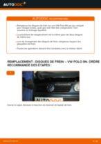 Comment changer : disques de frein arrière sur VW Polo 9N - Guide de remplacement