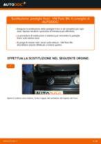 Come cambiare pastiglie freno della parte posteriore su VW Polo 9N - Guida alla sostituzione