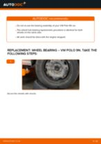 How to change rear wheel bearing on VW Polo 9N – replacement guide