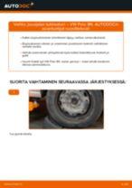 Kuinka vaihtaa jousijalan tukilaakeri eteen VW Polo 9N-autoon – vaihto-ohje