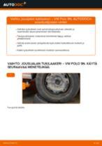 Kuinka vaihtaa jousijalan tukilaakeri taakse VW Polo 9N-autoon – vaihto-ohje