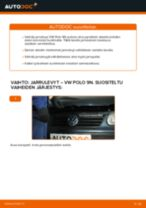 Kuinka vaihtaa jarrulevyt taakse VW Polo 9N-autoon – vaihto-ohje
