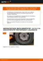 Πώς να αλλάξετε βάση αμορτισέρ πίσω σε VW Polo 9N - Οδηγίες αντικατάστασης
