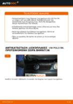 Πώς να αλλάξετε δισκόπλακες πίσω σε VW Polo 9N - Οδηγίες αντικατάστασης