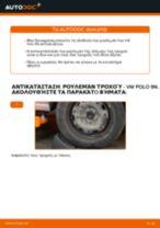 Πώς να αλλάξετε ρουλεμάν τροχού πίσω σε VW Polo 9N - Οδηγίες αντικατάστασης