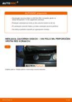 Zamenjavo Zavorni kolut VW POLO: brezplačen pdf