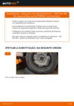 Como mudar cabeçotes do amortecedores da parte dianteira em VW Polo 9N - guia de substituição