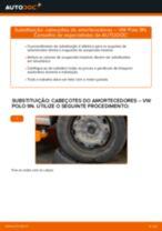 Como mudar cabeçotes do amortecedores da parte traseira em VW Polo 9N - guia de substituição