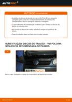Como mudar discos de travão da parte traseira em VW Polo 9N - guia de substituição