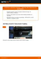 Montavimo Stabdžių Kaladėlės VW POLO (9N_) - žingsnis po žingsnio instrukcijos
