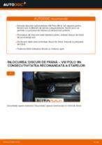 Cum se înlocuiesc și se ajustează Discuri frana VW POLO: manual pdf