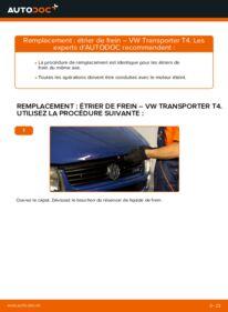 Comment effectuer un remplacement de Étrier De Frein sur 2.5 TDI VW Transporter T4