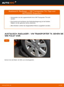 Wie der Wechsel durchführt wird: Radlager VW T4 Transporter 2.5 TDI 2.4 D 1.9 TD tauschen