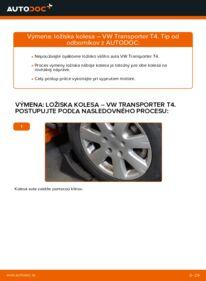 Ako vykonať výmenu: Lozisko kolesa na 2.5 TDI VW T4 Transporter