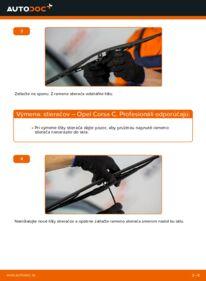 Ako vykonať výmenu: Stieracia liżta na 1.2 (F08, F68) Opel Corsa C