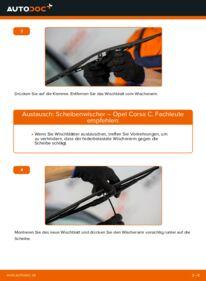 Wie der Wechsel durchführt wird: Scheibenwischer 1.2 (F08, F68) Opel Corsa C tauschen