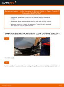 Comment effectuer un remplacement de Filtre à Huile sur 1.2 (F08, F68) Opel Corsa C