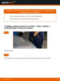 Jak provést výměnu: Zapalovaci svicka na 1.2 (F08, F68) Opel Corsa C