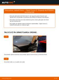 Cum să efectuați înlocuirea: Set saboti frana la 1.2 (F08, F68) Opel Corsa C