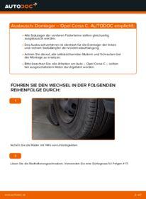 Wie der Wechsel durchführt wird: Domlager 1.2 (F08, F68) Opel Corsa C tauschen