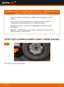 Comment effectuer un remplacement de Coupelle d'Amortisseur sur 1.4 16V VW Polo 9n
