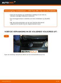 Vervangen: Remblokken VW POLO