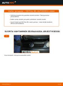 Kuinka vaihtaa Jarrupalat 1.4 16V Polo 9n -autoon