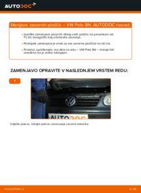 Kako izvesti menjavo: Zavorne Ploščice na 1.4 16V Polo 9n
