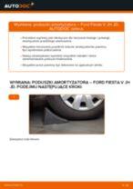 Jak wymienić poduszka amortyzatora przód w Ford Fiesta V JH JD - poradnik naprawy