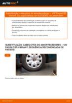 Como mudar cabeçotes do amortecedores da parte traseira em VW Passat B5 Variant gasolina - guia de substituição