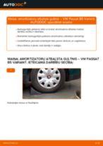 Kā nomainīt: aizmugures amortizatoru atbalsta gultņi VW Passat B5 Variant benzīns - nomaiņas ceļvedis