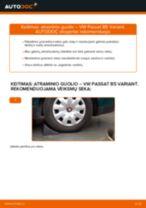 VW gale ir priekyje Amortizatoriaus atrama keitimas pasidaryk pats - internetinės instrukcijos pdf
