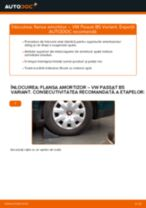 Cum să schimbați: flansa amortizor din spate la VW Passat B5 Variant benzina | Ghid de înlocuire