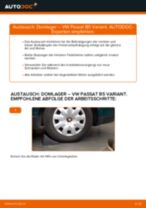 Wie VW Passat B5 Variant Benzin Domlager hinten wechseln - Schritt für Schritt Anleitung