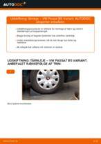Udskift tårnleje bag - VW Passat B5 Variant benzin | Brugeranvisning