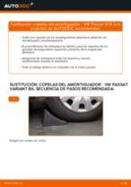 Cómo cambiar: copelas del amortiguador de la parte delantera - VW Passat 3C B6 Variant | Guía de sustitución