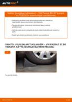 Kuinka vaihtaa jousijalan tukilaakeri taakse VW Passat 3C B6 Variant-autoon – vaihto-ohje
