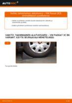 Kuinka vaihtaa takimmainen alatukivarsi VW Passat 3C B6 Variant-autoon – vaihto-ohje