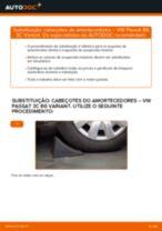 Como mudar cabeçotes do amortecedores da parte traseira em VW Passat 3C B6 Variant - guia de substituição