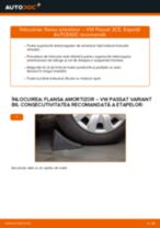 Cum să schimbați: flansa amortizor din față la VW Passat 3C B6 Variant | Ghid de înlocuire