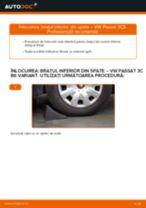 Cum să schimbați: brațul inferior din spate la VW Passat 3C B6 Variant | Ghid de înlocuire