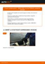 Pollenszűrő-csere BMW E90 benzin gépkocsin – Útmutató