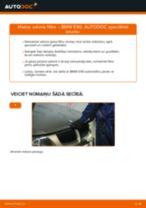 Kā nomainīt: salona gaisa filtru BMW E90 benzīns - nomaiņas ceļvedis