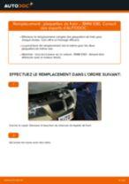 Comment changer et régler Kit de plaquettes de frein BMW 3 SERIES : tutoriel pdf