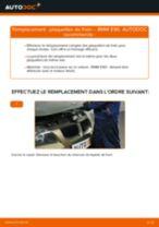 Montage Kit de plaquettes de frein BMW 3 (E90) - tutoriel pas à pas