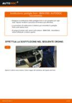 Come cambiare pastiglie freno della parte posteriore su BMW E90 benzina - Guida alla sostituzione