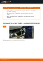 Slik bytter du bremseklosser bak på en BMW E90 bensin – veiledning