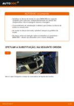 Como mudar discos de travão da parte traseira em BMW E90 gasolina - guia de substituição