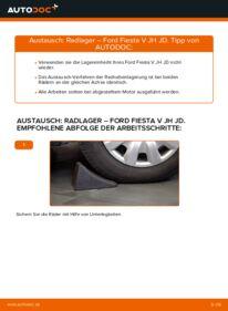 Wie der Wechsel durchführt wird: Radlager 1.4 TDCi Ford Fiesta V jh jd tauschen