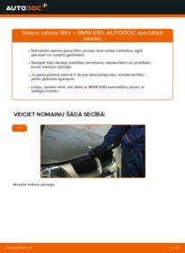 Kā veikt nomaiņu: 320d 2.0 BMW E90 Salona filtrs